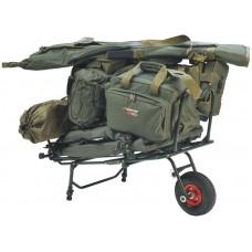 Transportný vozík na rybárske potreby