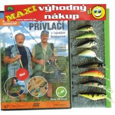 Rybárov sen 8 ks vobler FANATIC +  DVD