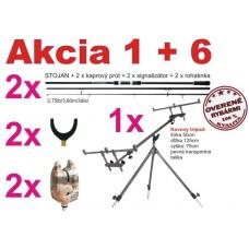 AKCIA Kaprové prúty + tripod + signalizátory +rohatinky