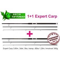 akcia 1+1 44 1082361 x2 cool carp 3,6m/3diel/3lbs