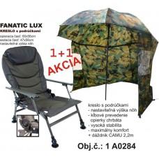 Akcia Rybárske kreslo + dáždnik CAMU 220cm s bočnicou