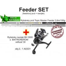 Akcia feeder 3,6m/100g + feeder baitrunerový  navijak