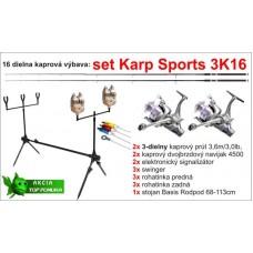 Kaprársky set 3K16 - 3diel/3,6m/3lbs/