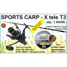 SPORTS CARP set Xtele Carp 360/2,75 +navijak 2br +silon