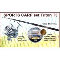 SPORTS CARP set Triton tele 360/150g +navijak 2br +silo