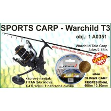 SPORTS CARP set Warchild tele 3,6m/2,75 +navijak +silon