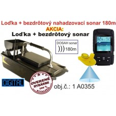 Akcivý set zavážacia lodka  bezdrôtový sonar do 180m
