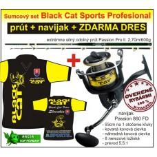 Black Cat sumčiarsky prút + navijak + DRES ZDARMA