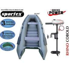 AKCIA čln SPORTEX Shelf 310 + Elektromotor Rhino VX 28