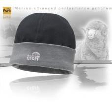 GEOFFAnderson Otara Beanie Merino čiapka čierno šedá