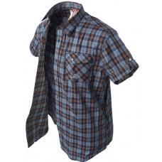 krátka košeľa Banga (blue/black/orange) s/s