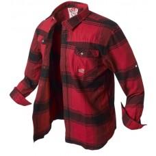 košeľa flanelová Banga (red/black) l/s