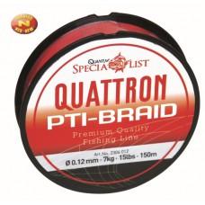 šnúra quattron PTI, 300m, farba červená