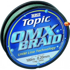 Spletaná šnúra, 100m, 7,5kg Topic OMX Braid