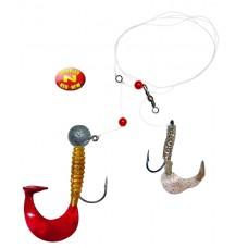 Rybársky nádväzec Perch Lifter Rig I, 50cm, 5ks