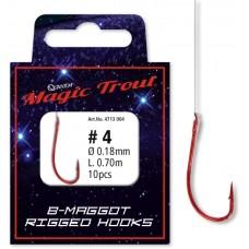 Maggot Rigged Hooks, červený háčik - nadväzec