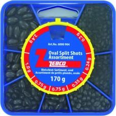 set oválnych brokov, bročky od 0,2 do 2,4gr / 170g