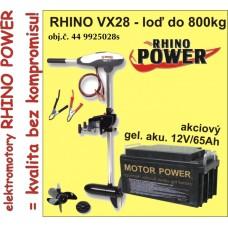 Elektrický motor Rhino VX 28 + Akumulator 65Ah/12V