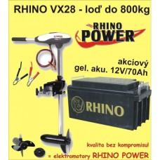 Rhino set VX-28 + akumulator 70Ah/12V