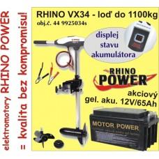 Elektrický motor Rhino VX + Akumulator 65Ah/12V