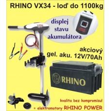 Rhino set VX-34 + akumulator 70Ah/12V