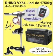 set. el.motor RHINO VX-54 + akumulator 100Ah/12V