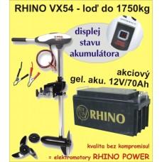 Rhino set VX-54 + akumulator 70Ah/12V
