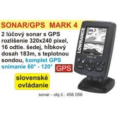 Lowrance Mark-4 - dvojlúčový sonar a GPS 60° a 120°