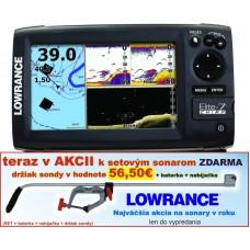 Lowrance ELITE-7X CHIRP 4lúč snímanie 120°/60°/55°/30°