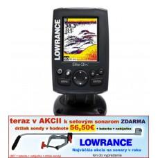 Lowrance sonar ELITE-3X 2 lúčový sonar 60° a 120°
