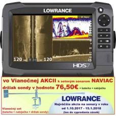 lowrance HDS7 GEN3 so sondou 60°a 120° a priestor