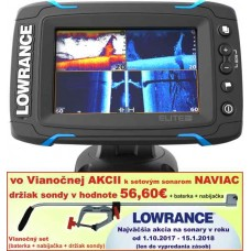 Dotykový sonar LOWRANCE Elite-5 Ti so sondou Chirp/DSI
