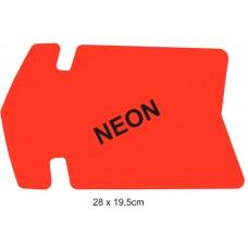 Reklamná šipka malá 30x19,5cm neón červená  25ks